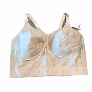 NWT Elila Wireless Posture Support Nude Bra 5505